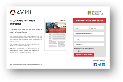 AVMI Landing page